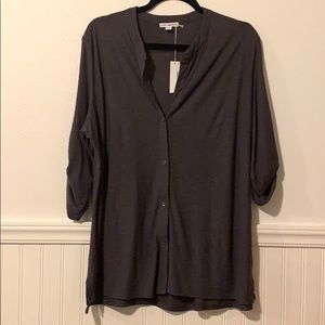 JAMES PERSE Dark Grey Button Down Shirt 4 L NWT